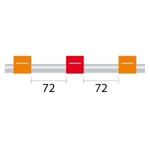 Contour Flared End PVC Pump Tube 3tag 0.19mm ID Orange/Red (PKT 6)