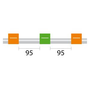 Contour Flared End PVC Pump Tube 3tag 0.38mm ID Orange/Green, 95mm (PKT 6)