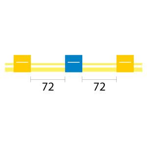 PharMed Pump Tube 3tag 1.52mm ID Yellow/Blue (PKT 12)